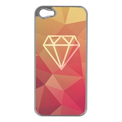 Diamond Apple Iphone 5 Case (silver) by Contest1701949