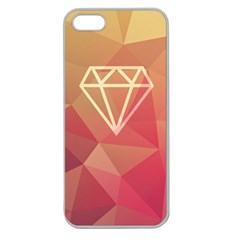 Diamond Apple Seamless Iphone 5 Case (clear) by Contest1701949