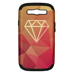 Diamond Samsung Galaxy S Iii Hardshell Case (pc+silicone)