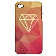 Diamond Apple Iphone 4/4s Hardshell Case (pc+silicone) by Contest1701949