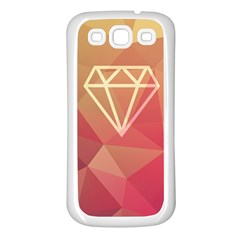 Diamond Samsung Galaxy S3 Back Case (white)