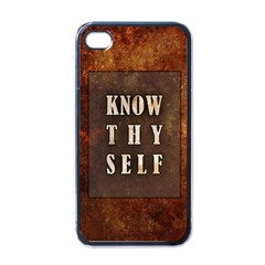 Know Thyself Apple Iphone 4 Case (black)
