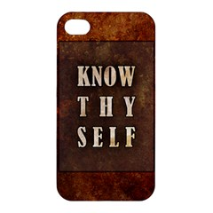 Know Thyself Apple Iphone 4/4s Hardshell Case by Contest1775858