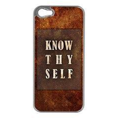 Know Thyself Apple Iphone 5 Case (silver)