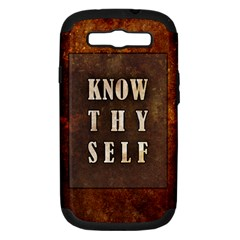 Know Thyself Samsung Galaxy S Iii Hardshell Case (pc+silicone)