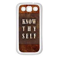 Know Thyself Samsung Galaxy S3 Back Case (white)