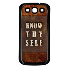 Know Thyself Samsung Galaxy S3 Back Case (black)