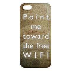 Free Wifi Iphone 5s Premium Hardshell Case by Contest1775858
