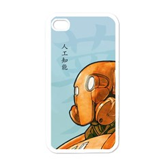 Robot Dreamer Apple Iphone 4 Case (white) by Contest1780262