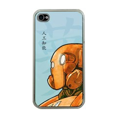 Robot Dreamer Apple Iphone 4 Case (clear) by Contest1780262