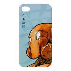 Robot Dreamer Apple Iphone 4/4s Premium Hardshell Case by Contest1780262