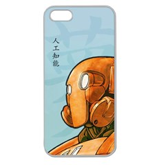 Robot Dreamer Apple Seamless Iphone 5 Case (clear) by Contest1780262