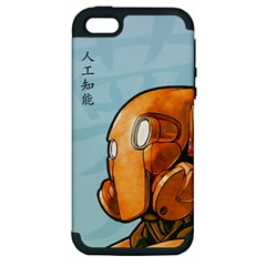 Robot Dreamer Apple Iphone 5 Hardshell Case (pc+silicone) by Contest1780262