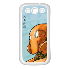 Robot Dreamer Samsung Galaxy S3 Back Case (white) by Contest1780262