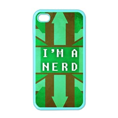 I m A Nerd Apple Iphone 4 Case (color)