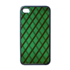 Green Stripes Apple Iphone 4 Case (black)