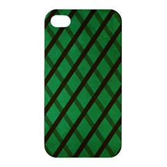 Green Stripes Apple Iphone 4/4s Hardshell Case by Contest1775858