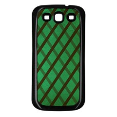 Green Stripes Samsung Galaxy S3 Back Case (black)