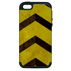 Caution Apple Iphone 5 Hardshell Case (pc+silicone) by Contest1775858