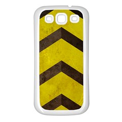 Caution Samsung Galaxy S3 Back Case (white) by Contest1775858