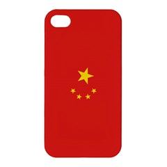 Chinese Flag Apple Iphone 4/4s Premium Hardshell Case by ContestDesigns