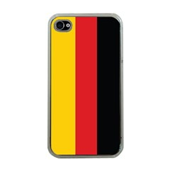 German Flag Apple Iphone 4 Case (clear) by ContestDesigns