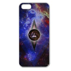 Infinite Space Apple Seamless Iphone 5 Case (clear) by Contest1775858