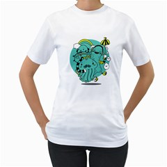 Monsters Womens  T Shirt (white) by Contest1771913