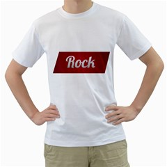 Rock Tee! Mens  T Shirt (white)