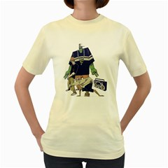 Old School  Womens  T-shirt (yellow) by Contest1743617