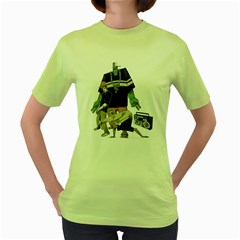 Old School Womens  T-shirt (green) by Contest1743617