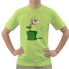 Piranha Plant Mens  T Shirt (green)