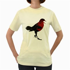 Mad Crow  Womens  T Shirt (yellow) by Contest1767514