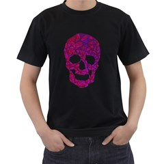 Triskull Mens' Two Sided T-shirt (black)