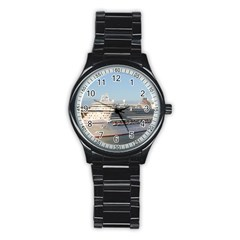 Ms Azura Cruise Ship On Antigua Sport Metal Watch (black) by stineshop