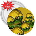 Balls 3  Button (100 pack) Front