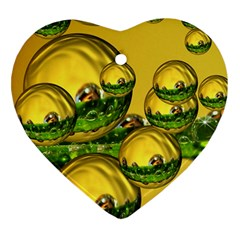 Balls Heart Ornament (two Sides) by Siebenhuehner