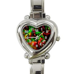 Fantasy Welt Heart Italian Charm Watch  by Siebenhuehner