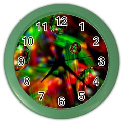 Fantasy Welt Wall Clock (color) by Siebenhuehner