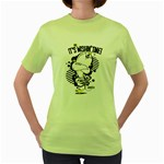 Wishin  time! Womens  T-shirt (Green) Front