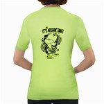 Wishin  time! Womens  T-shirt (Green) Back