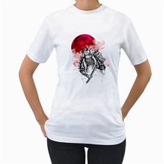 Undead Samurai Womens  T Shirt (white)