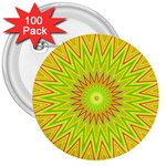 Mandala 3  Button (100 pack) Front
