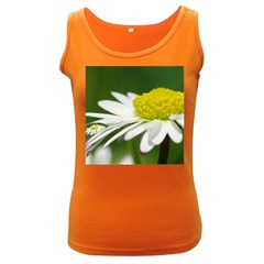 Daisy With Drops Womens  Tank Top (dark Colored) by Siebenhuehner