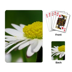 Daisy With Drops Playing Cards Single Design by Siebenhuehner