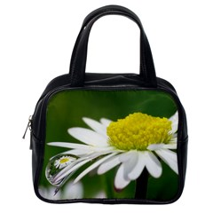 Daisy With Drops Classic Handbag (one Side) by Siebenhuehner