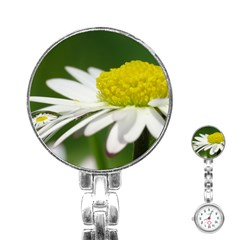 Daisy With Drops Stainless Steel Nurses Watch by Siebenhuehner