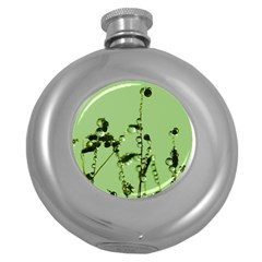 Mint Drops  Hip Flask (round)