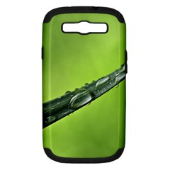Green Drops Samsung Galaxy S Iii Hardshell Case (pc+silicone) by Siebenhuehner