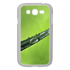 Green Drops Samsung Galaxy Grand Duos I9082 Case (white) by Siebenhuehner